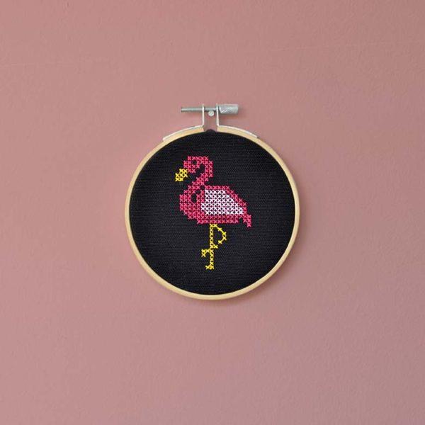 Landkinder Stickbilder flamingo rosa