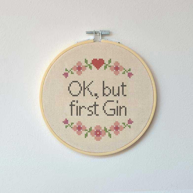 Landkinder Stickbilder ok but first gin