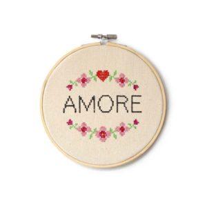 Landkinder Stickbilder Amore rosa