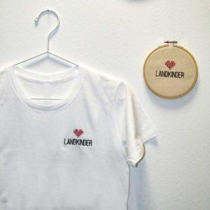 Landkinder T-Shirt bestickt Damen weiß