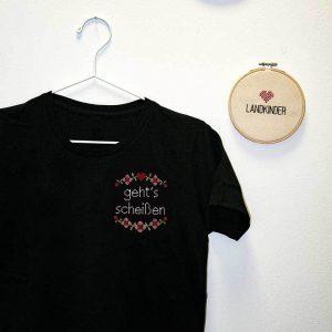 Gehts scheißen Damen T Shirt schwarz