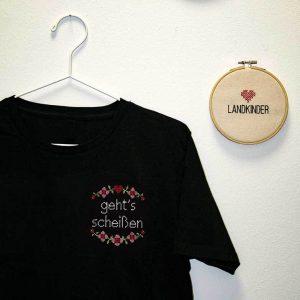 Gehts scheißen Herren T Shirt Schwarz