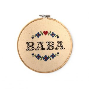 Stickbild Baba blau