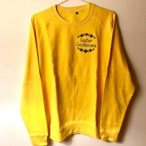 Pullover gelb lauter gschissane gelb