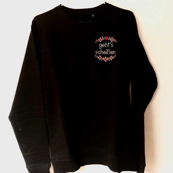 Pullover schwarz Landkinder gehts scheißen