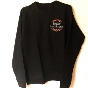 Pullover schwarz lauter gschissane Landkinder